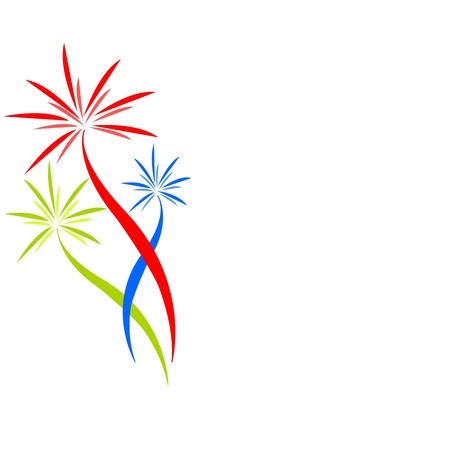 company logo: fireworks Illustration
