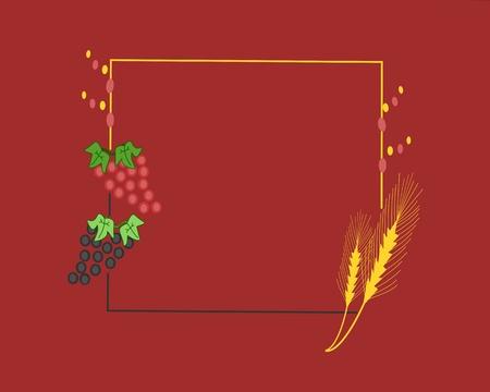 grapes - hops Vector