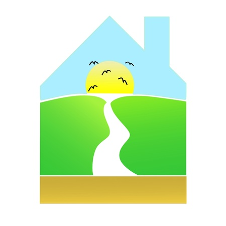 house - landscape Vector