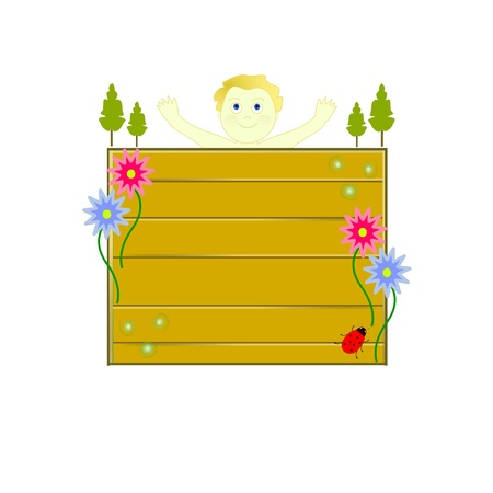 child happy to be in the nature Stock Vector - 11277078