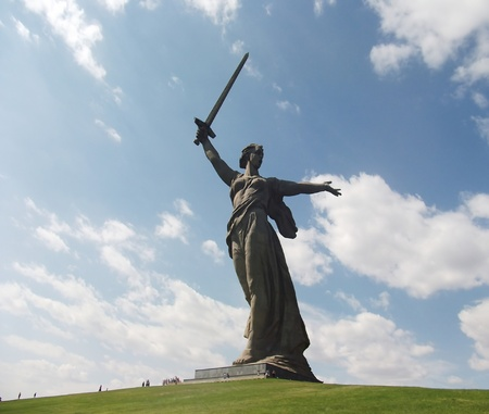Motherland statue in Volgograd  Stock Photo
