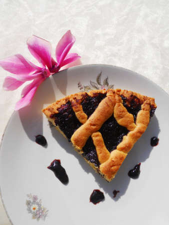 tart with blackberry jam           Stock Photo