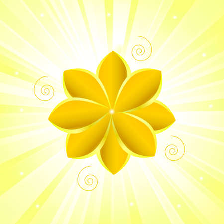 gold texture with flower Vector