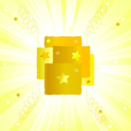 gold texture with starburst Vector