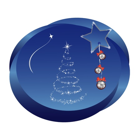 christmas sticker Illustration