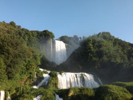 umbria: umbria  marmore waterfall  Stock Photo