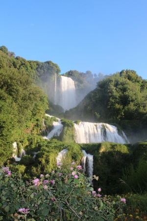 umbria  marmore waterfall  Stock Photo