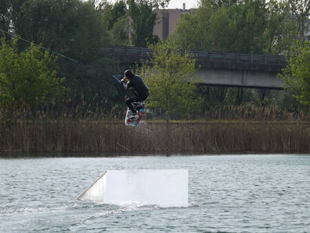 serf: acrobaties aquatiques