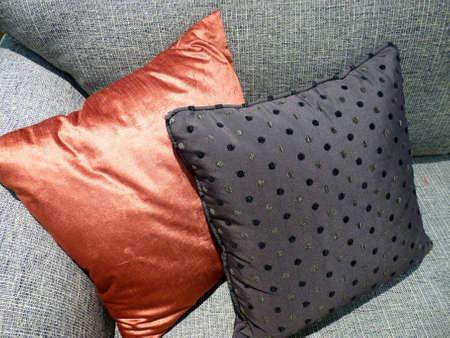 Cushions on sofa Stock Photo