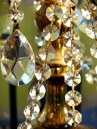 Crystal Lamp Stock Photo
