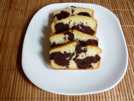 Homemade Marble cake Stock Photo