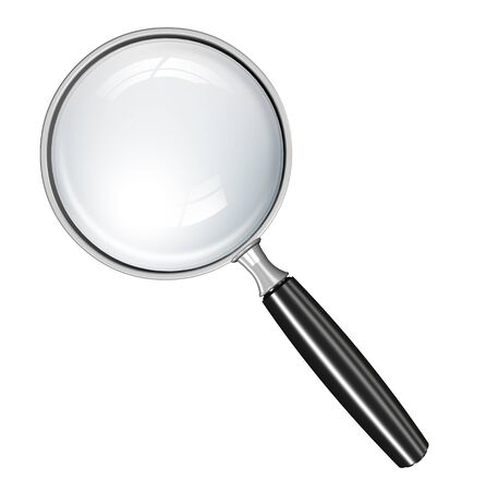 attacker: Magnifying glass Stock Photo