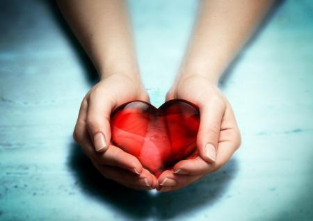 손에 심장