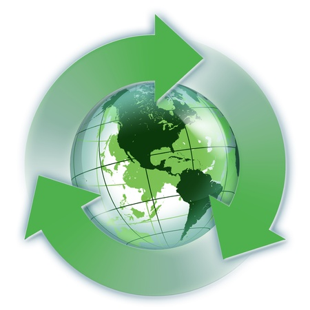 safe world: recycled Usa green world - Usa