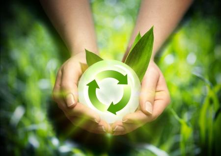 手の中に再生可能エネルギー