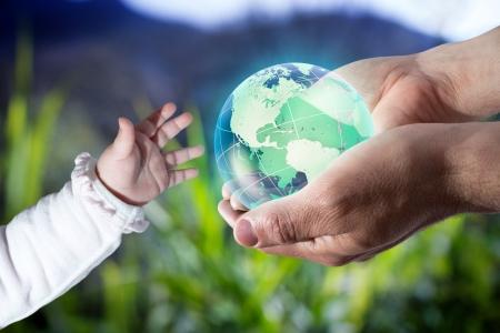 세계를 새로운 세대를 제공 - 미국 - 바다 배경