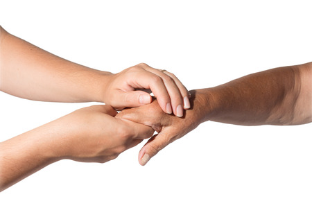 caring hands: Helping the needy  Stock Photo