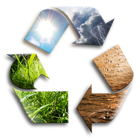 recycled water: recycled water  Stock Photo