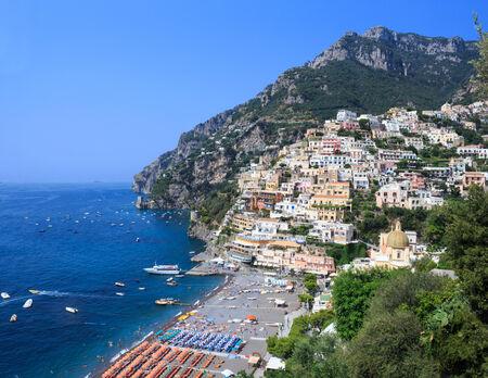 positano: View Positano - Amalfi Coast whit sea