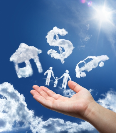 錢: 夢想在天空中汽車,家庭,金錢和家庭