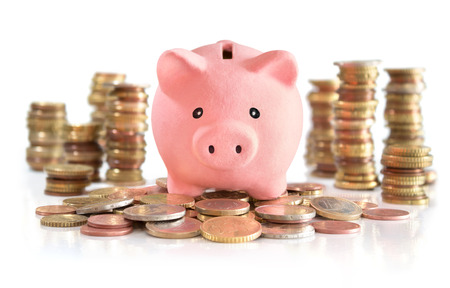 piggies: money saving on euro and money tower