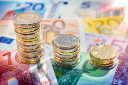 remuneraciones: gráfico de euro