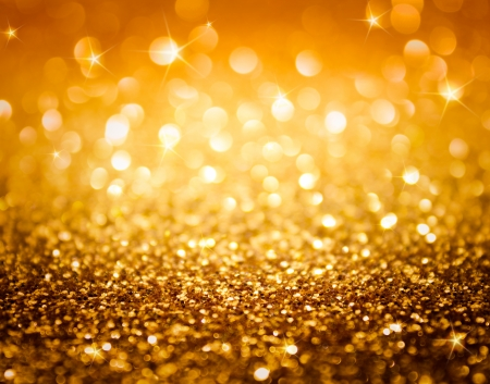 garish: golden glitter and stars for christmas background
