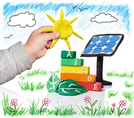 ni�os reciclando: nueva generaci�n que piensa en la fotovoltaica