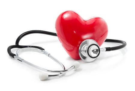 estetoscopio corazon: escuchar a su concepto de atenci�n de la salud del coraz�n Foto de archivo