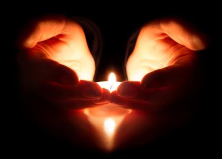 esperança e oração - a fé está no coração Foto de archivo