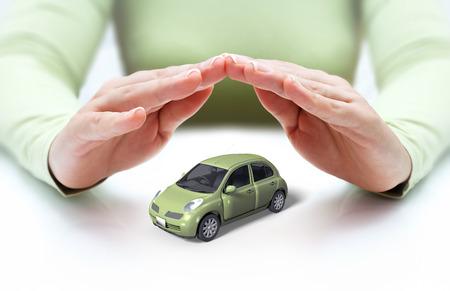 veiligheid van uw auto - handen die Stockfoto