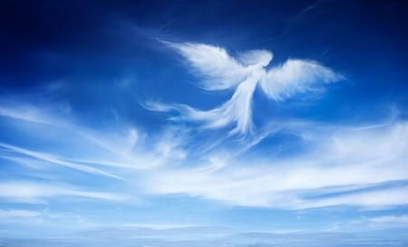 하늘에있는 천사 스톡 콘텐츠