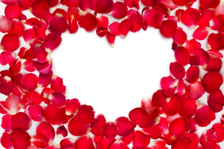 mother s day: rose petals with place for text