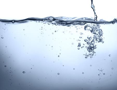 crystals in water: potable water - underwater background