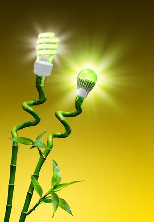 concept of efficiency on lighting - flash vs LED lamp Stock Photo - 26743599