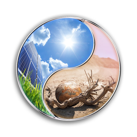 terrestrial: energy solar can save our planet - environment concept