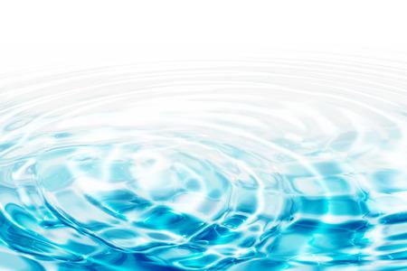 Ondas de agua - círculos concéntricos de color turquesa Foto de archivo - 26743812