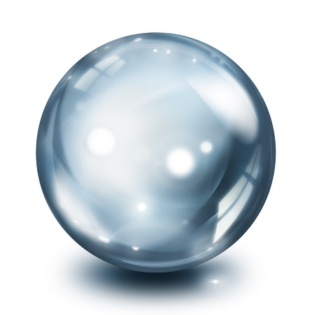 molecula de agua: esfera de cristal de la perla