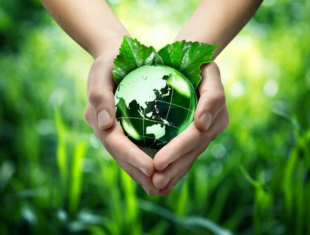 생태 개념 - 보호 세계의 녹색 - 동양 스톡 콘텐츠