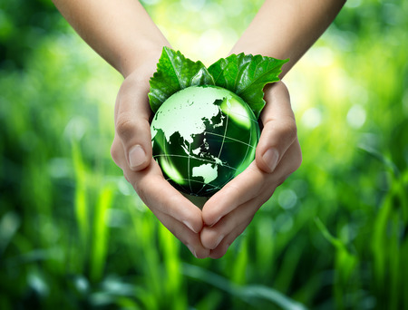 protect: ecological concept - protect world s green - Orient