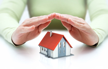 safe house: protect and insurance real estate concept
