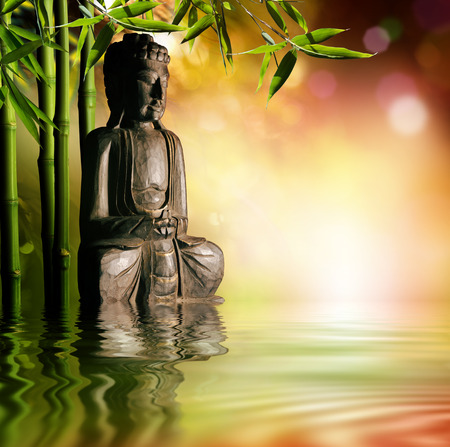 spiritual background: spiritual background of Asian culture with buddha