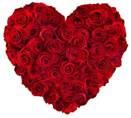 rosas rojas: Coraz�n de rosas rojas