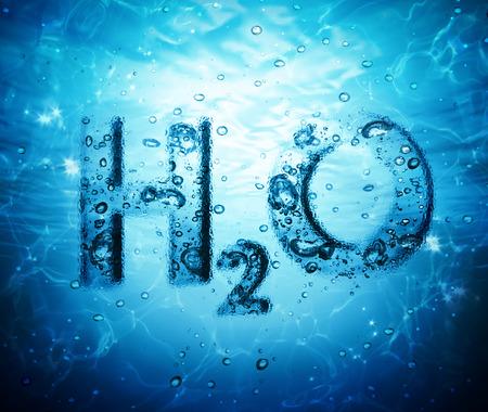 molecula de agua: fórmula del agua