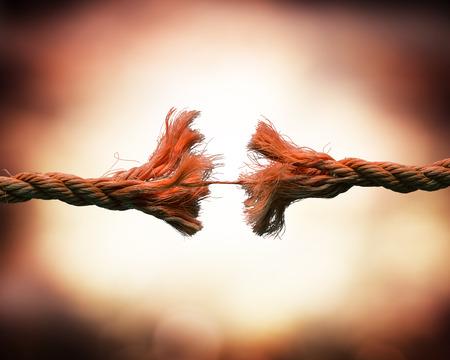 broken string - tension concept