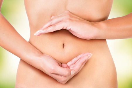bloating: cycle inside the female body, circle of digestion, menstruation