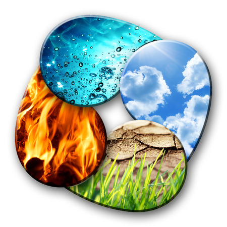 four elements of Nature 版權商用圖片 - 30223497