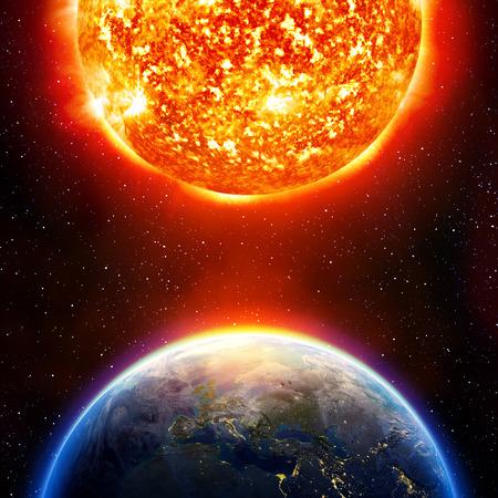 die globale Erwärmung der Erde
