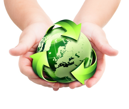 recycling future in the hands photo