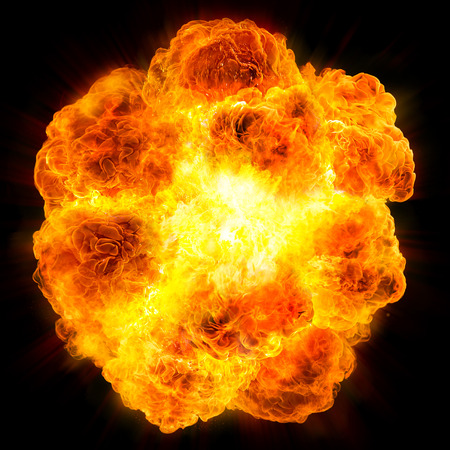fireball: explosion Stock Photo